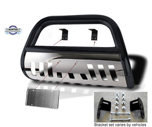 Bull Bar 2003 2006 Ford Expedition Chrome Push Bumper Guard In Black Stainless