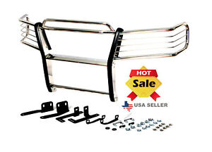 2004 2005 Ford F150 F 150 Chrome Brush Grille Grill Guard In Stainless Steel