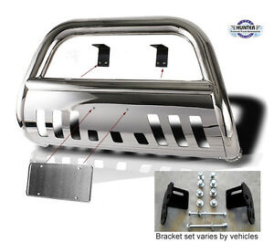 1999 2004 Jeep Grand Cherokee Chrome Push Bull Bar In Stainless Steel Bumper