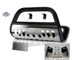 Bull Bar 1999 2002 Ford Expedition 2x4 Chrome Push Bumper Guard In Black Stain