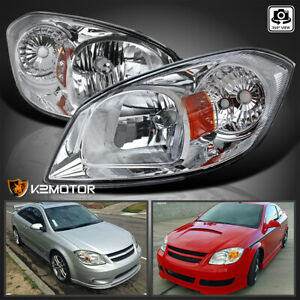 2005 2010 Chevy Cobalt 07 09 Pontiac G5 05 06 Pursuit Clear Headlights Pair