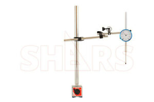Shars 18 Large Magnetic Base Test Dial Indicator Holder 2 Indicator New
