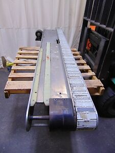 8 Long Plastic Table Top Chain Conveyor With 115v Electric Motor
