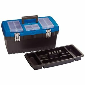 Draper 480mm Garage Tool organiser Storage Box With Tote Tray 53880