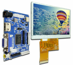 4 3 tft Color Lcd Display Module w hdmi vga video Driving Board For Raspberry Pi