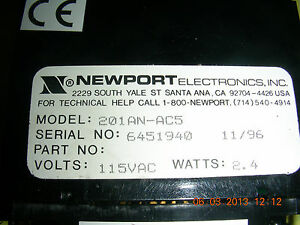 Newport Ac Power line Monitor volt Meter Pn 201an ac5