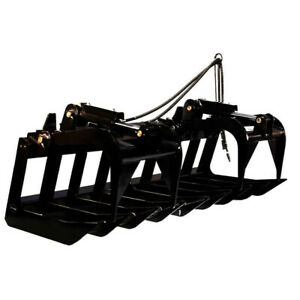 72 Heavy duty Root Grapple Rake Attachment For Bobcat And Kubota Skid Steers
