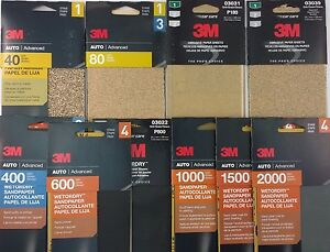 3m Sandpaper Auto Boat Shop Home 3 2 3 X9 5 6 Sheets Pk Select Dry Dryorwet