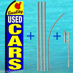 Quality Used Cars Swooper Flag 15 Tall Pole Kit Flutter Feather Banner Sign