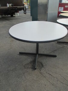 Ac48 Round Gray Table With Base Dining Kitchen