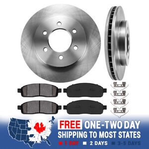 Front Brake Rotors And Metallic Pads 2004 2005 2006 2007 2008 Ford F150 4x4 4wd