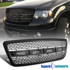 2004 2008 Ford F150 Pickup Cab Carbon Look Raptor Style Bumper Upper Hood Grille