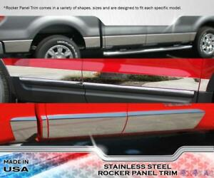 Stainless Steel 4 Wide Rocker Panel 6pc Fits Chevy Beretta 2 door 87 93