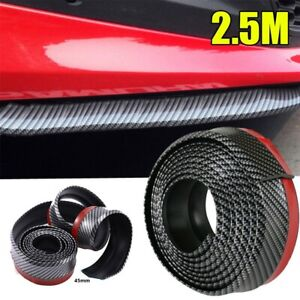 2 5m Carbon Fiber Front Bumper Lip Splitter Chin Spoiler Body Kit Trim Univer