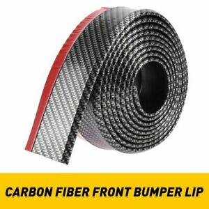 2 5 100 Carbon Fiber Front Bumper Lip Splitter Chin Spoiler Body Kit Trim