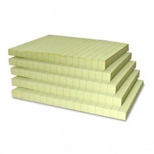 Sticky Notes 4 X 6 Lined Canary 100 Sheet Pads 20 Pads