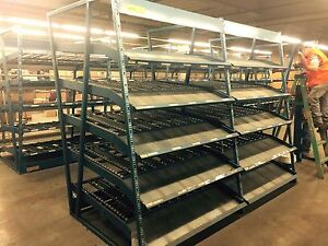 Gravity Flow Racks Approximate 20 Section Selling Each Section Separately A