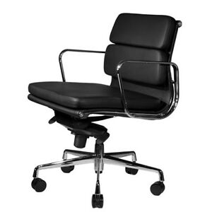 Wobi Office Clyde Mid back Leather Desk Chair