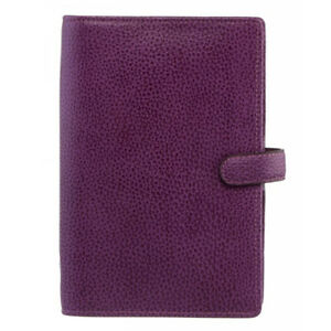 Filofax Finsbury Personal Organiser Raspberry Grained Leather Ring Bound