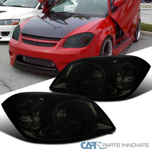 For Pontiac 05 06 Pursuit 07 09 G5 05 10 Chevy Cobalt Smoke Headlights Lamps