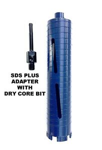 Combo 1 1 2 Dry Diamond Core Drill Bit For Concrete With Sds Plus Adapter