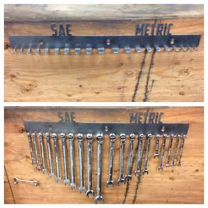 Metric And Sae Wrench Holder Rack Snapon Craftsman Mac Matco Blue Point