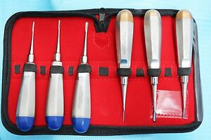German 6 Pcs Str Cvd 1 5mm To 3mm Dental Surgery Extraction Luxating Elevator