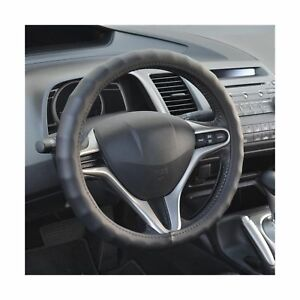 Bdk Genuine Leather Car Steering Wheel Cover 13 5 14 5 Small Black