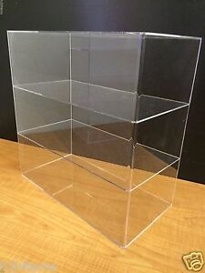 Ds acrylic Counter Top Display Case 16 X 8 X 16 Show Case Cabinet Shelves