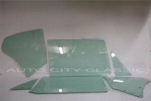 1968 Chevelle Convertible Glass Vent Door Quarter Green Tint Set