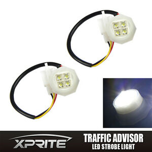 2 White Led Hide Away Strobe Tube Headlight Replacement Spare Bulbs 120 180w