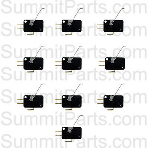10pk Coin Drop Switches For Dexter Washers And Dryers 9732 126 001