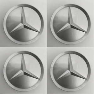 Set Of 4 Oem Center Caps For 1984 2016 Mercedes Benz 2014010225 Fits Most Models