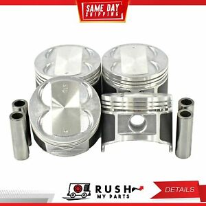Dnj P326 Std Size Complete Piston Set For 89 91 Geo Isuzu Imark 1 6l Dohc 16v