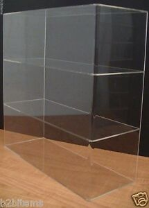 Ds acrylic Counter Top Display Case 16 X 6 X 16 Show Case Cabinet Shelves