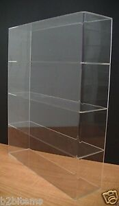 Ds acrylic Counter Top Display Case 16 X 4 X 19 Show Case Cabinet Shelves