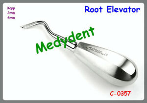 2 Kopp Root Tip Elevator 2mm 4mm Dental Surgical Instruments C 0357