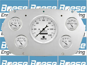 59 60 Dodge Truck Auto Meter Old Tyme White Gauges 1959 1960