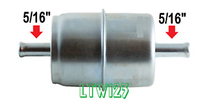 4 5 16 Universal Gas Filter Chrome Canister