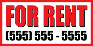 3 x6 For Rent Custom Number Promotion Business Sign Banner