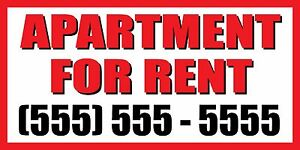 3 x6 Apartment For Rent Custom Number Sign Vinyl Banner House Condo Home Studio