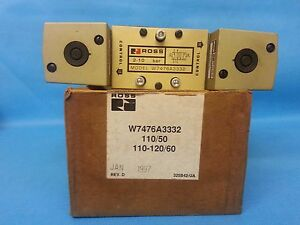 Freeshipsameday Ross Control W7476a3332 Pneumatic Double Solenoid Valves