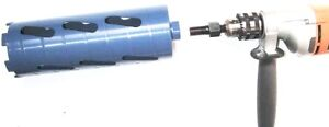 2 1 2 Dry Core Bit With Adapter 5 8 11 Arbor To 1 2 Shank Electric Hand Drill