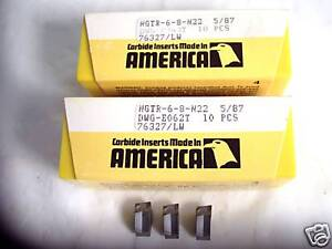 New 20 Pcs ngtr 6 8 Cut Off Inserts Newcomer kennametal