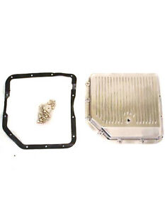 Gm Chevy Turbo 350 Polished Aluminum Finned Transmission Pan W Gasket