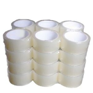 24 Quantity Clear Acrylic Packing Moving Shipping Packaging Tape 2 Inch Wide