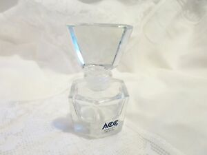 Art Deco Hand Cut Crystal Perfume Bottle Glass Stopper Dauber Acc