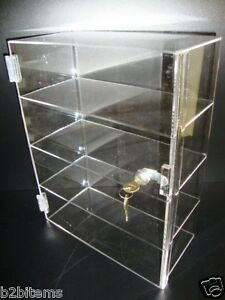 Acrylic Countertop Display 12 X 7 X 16 Locking Security Showcase Cupcake Stand