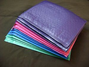 40 Color Pack 10x15 Bubble Mailer Self Seal Envelope Padded Protective Mailer