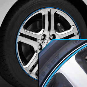 Wheel Bands Sky Blue In Black Pinstripe Edge Trim For Acura Legend 13 22 Rims